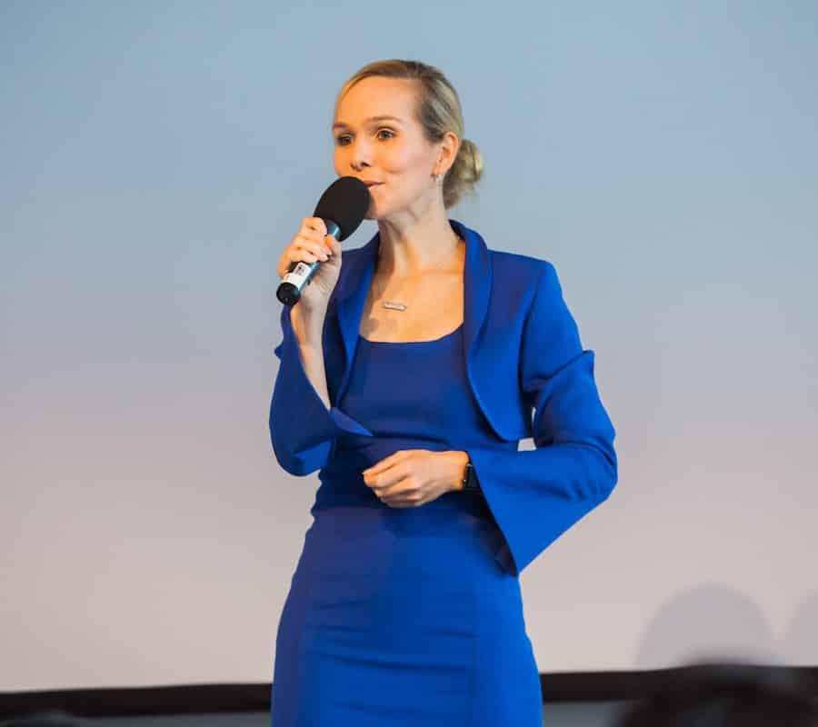 Moderatorin Ilka Groenewold im Einsatz