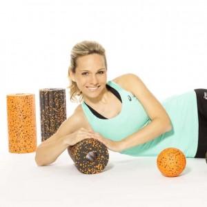 Sportmodel Ilka Groenewold für blackroll-orange im Einsatz