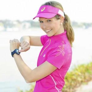 Sportmodel Ilka Groenewold für asics im Einsatz