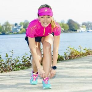 Sportmodel Ilka Groenewold beim Shooting in Hamburg