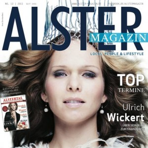 Cover-Model Ilka Groenewold auf dem Alster Magazin.