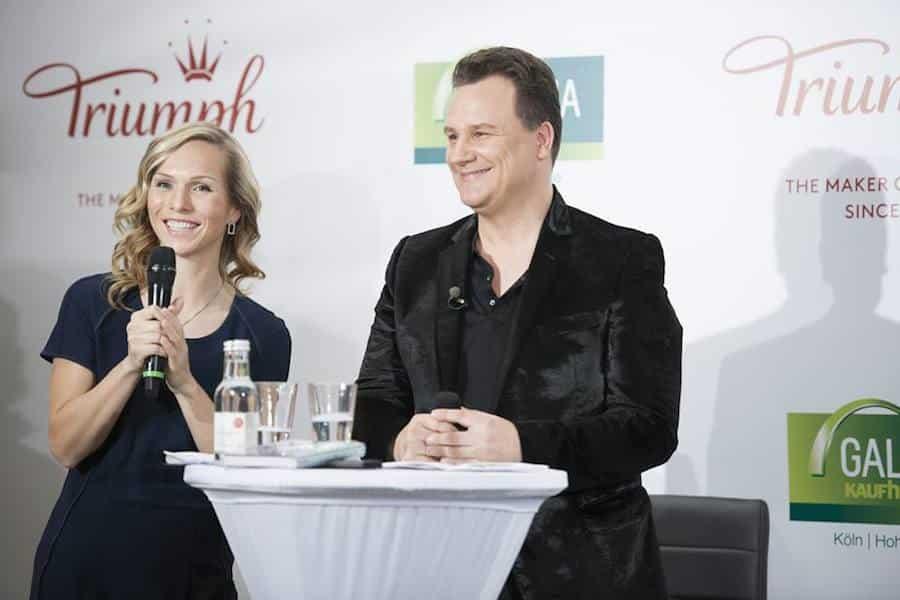 Modeevent für Triumph mit Guido Maria Kretschmer und Moderatorin Ilka Groenewold