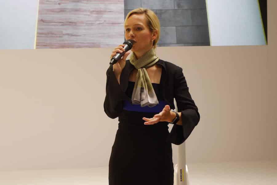 Neuheiten Präsentation auf der IFA Messe in Berlin mit Moderator Ilka Groenewold