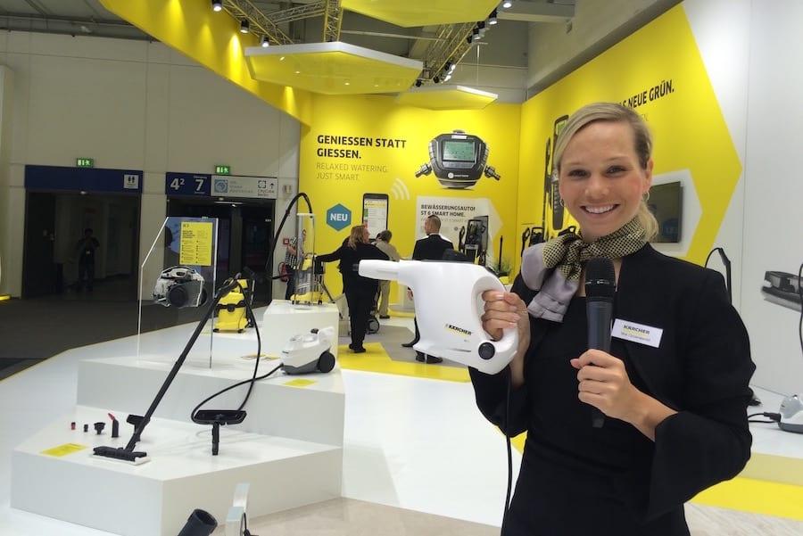 IFA Messe-Moderatorin Ilka Groenewold für KÄRCHER im Einsatz
