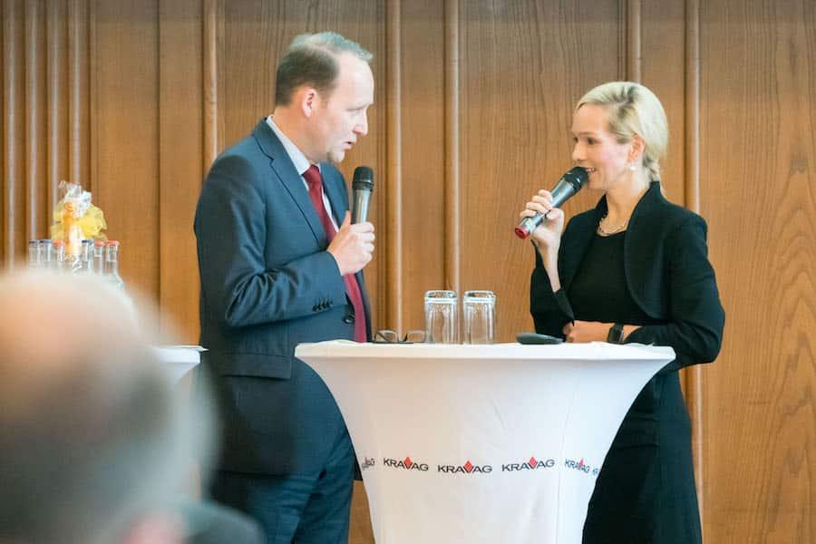 Kravag Versicherungen richtet Kongress mit Moderatorin Ilka Groenewold in Hamburg aus