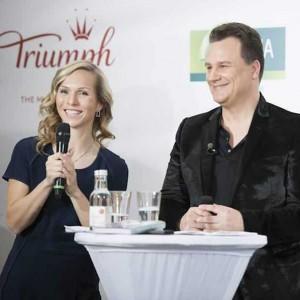 Event-Moderatorin Ilka Groenewold mit Guido Maria Kretschmer