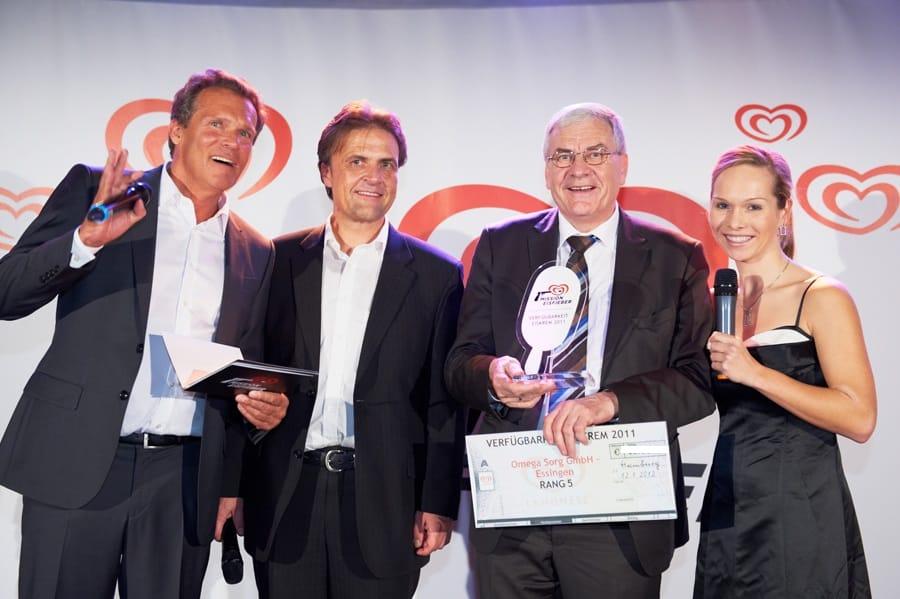 Moderatorin Ilka Groenewold moderiert Langnese Award Veranstaltung