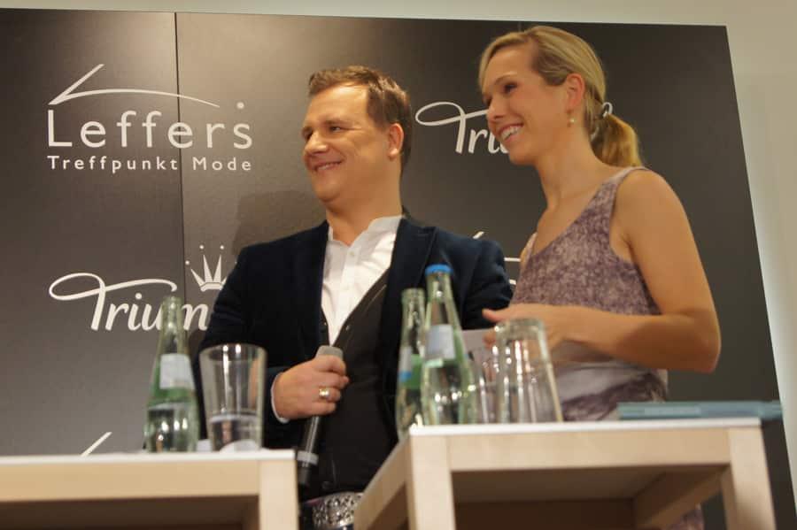 Lifestyle Triumph Roadshow im Modehaus mit Guido Maria Kretschmer und Moderatorin Ilka Groenewold