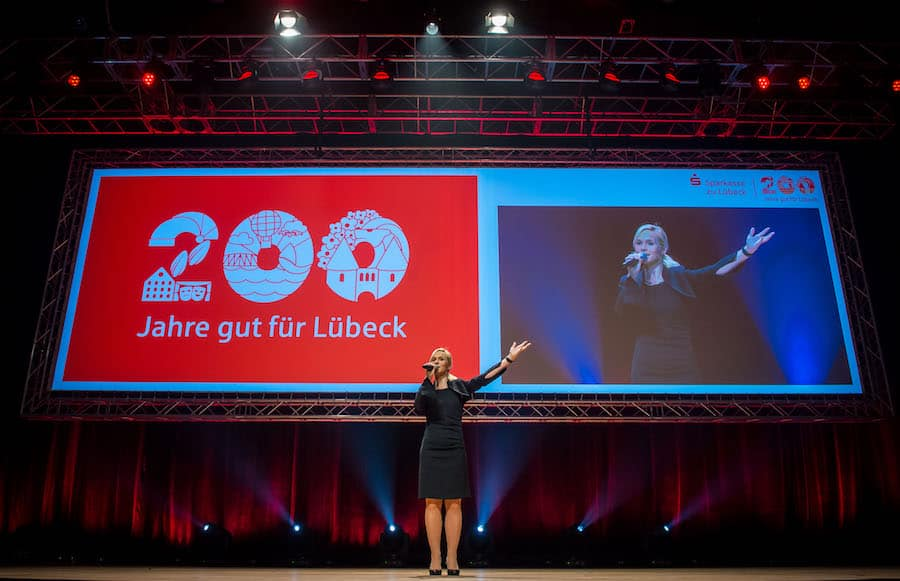 200 Jahre Sparkasse zu Lübeck mit Moderatorin Ilka Groenewold