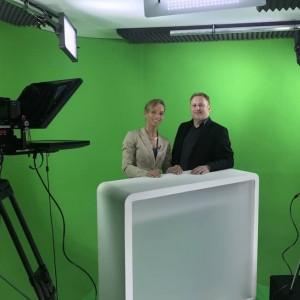 Produktion mit Moderatorin Ilka Groenewold