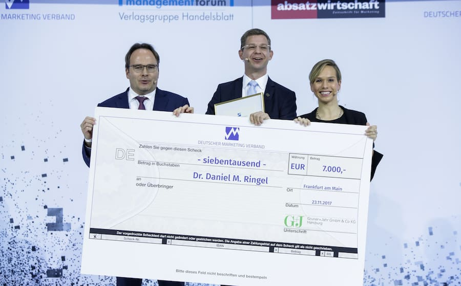 Deutscher Marketing Preis mit Moderator Ilka Groenewold